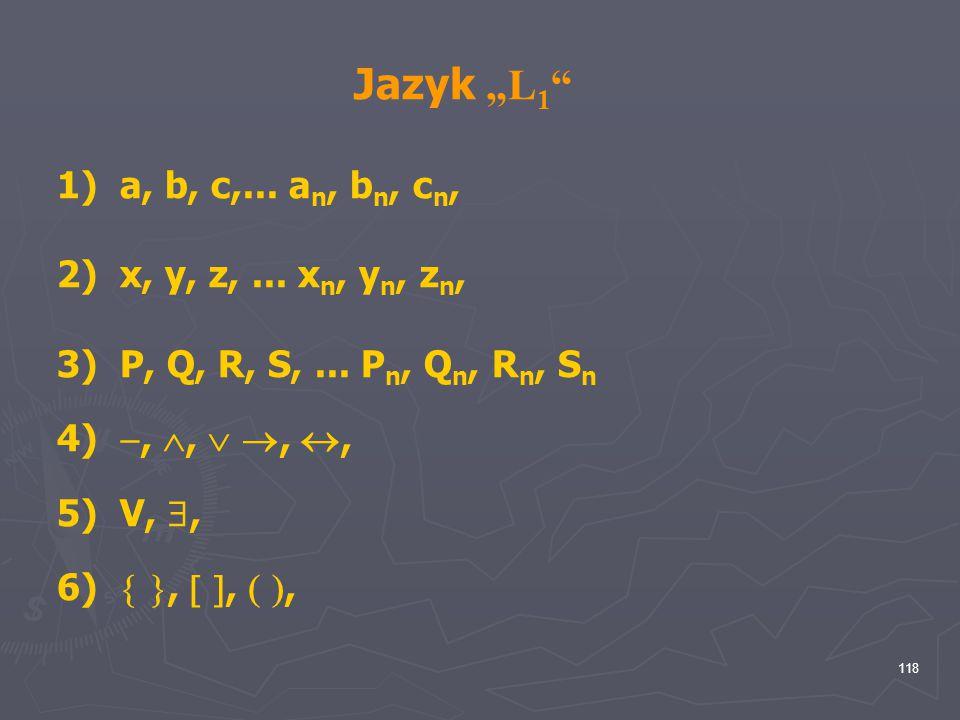 "Jazyk ""L1 a, b, c,... an, bn, cn, x, y, z, ... xn, yn, zn,"