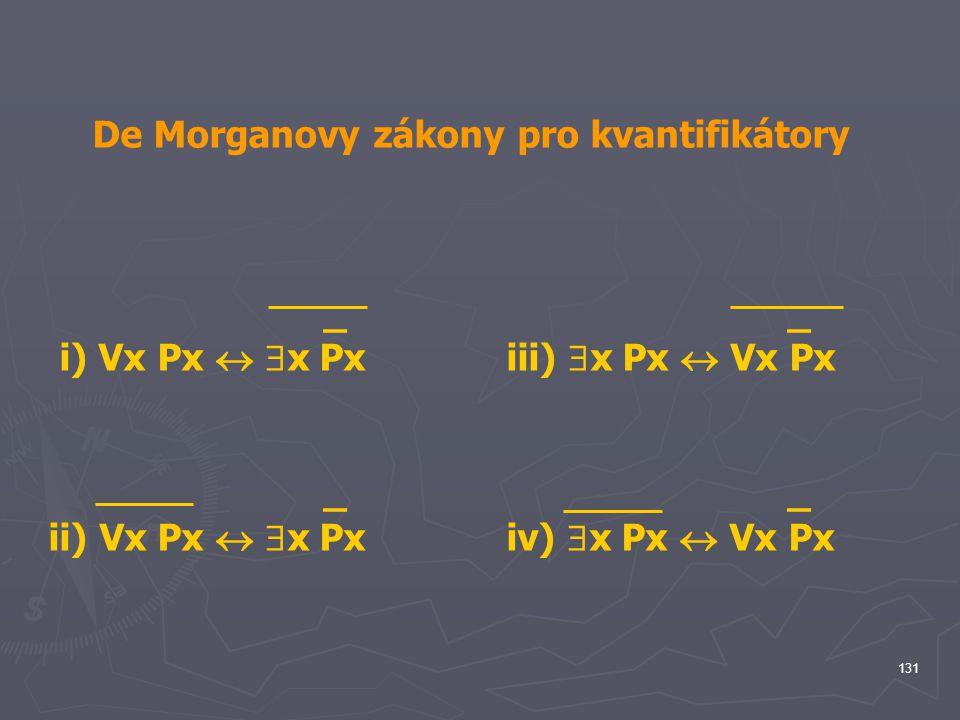 De Morganovy zákony pro kvantifikátory