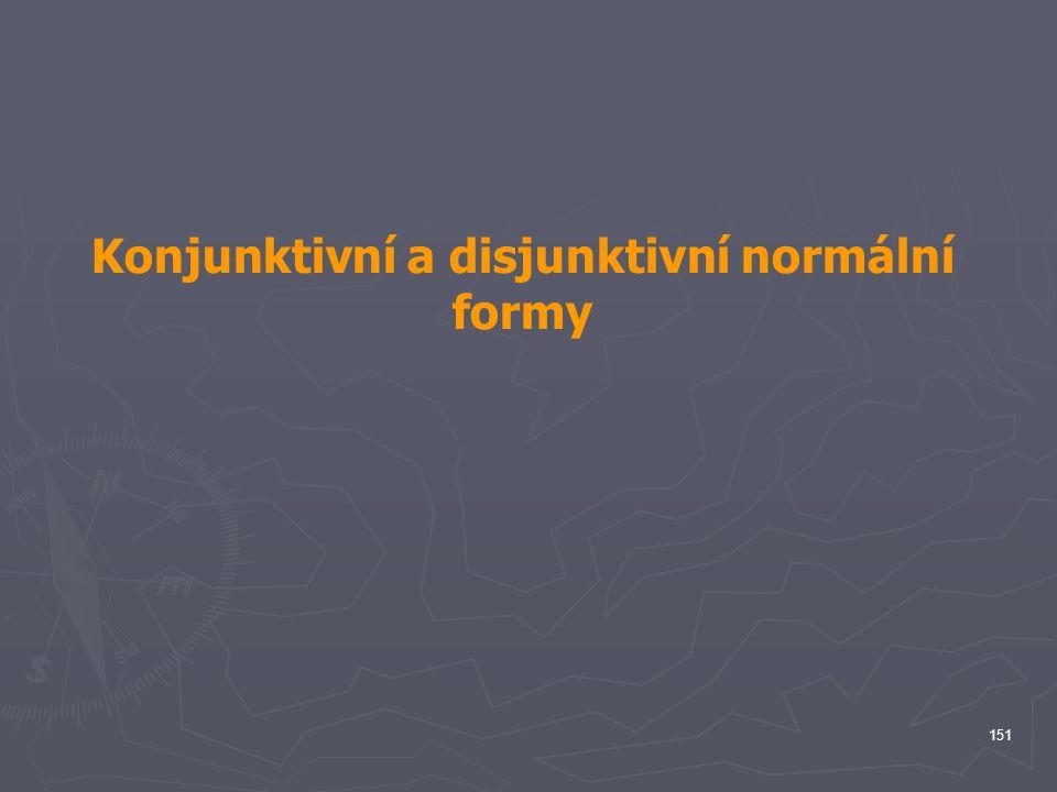 Konjunktivní a disjunktivní normální formy