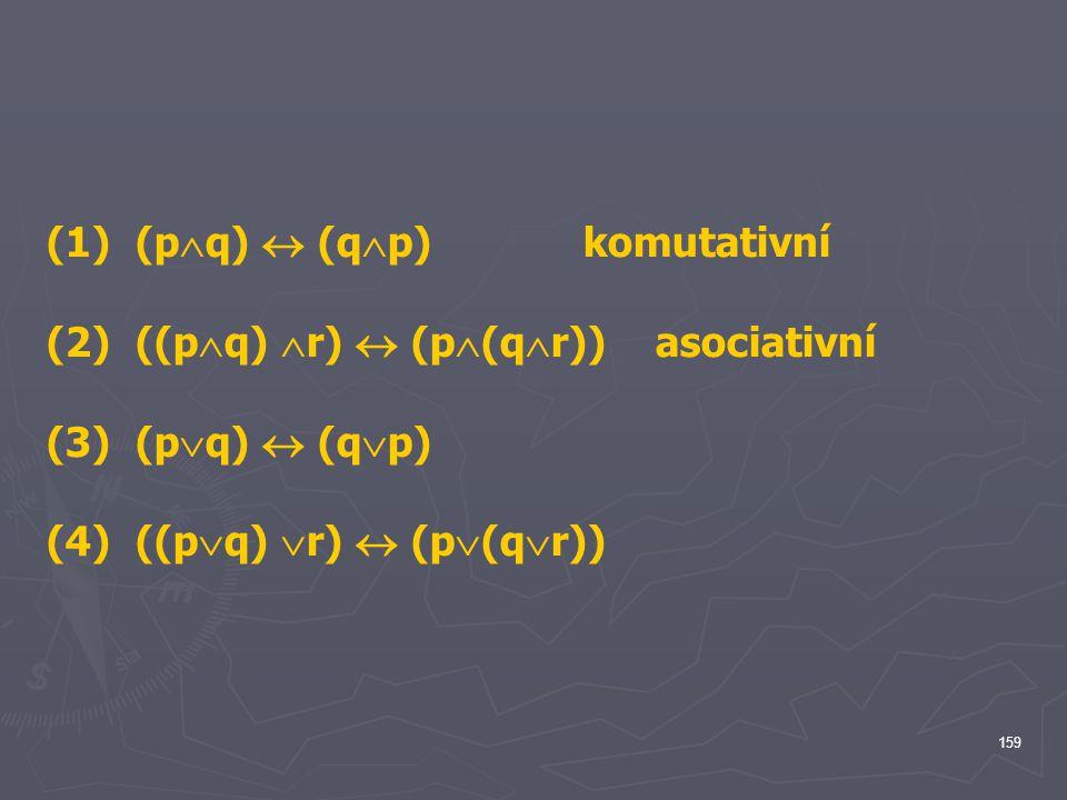 (1) (pq)  (qp) komutativní