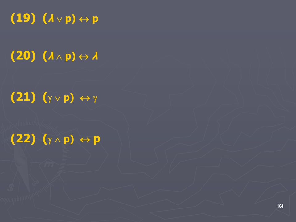 (λ  p)  p (20) (λ  p)  λ (  p)   (22) (  p)  p