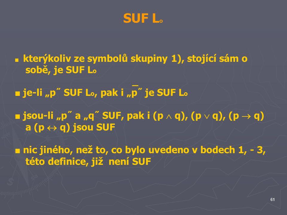"SUF Lo _ ■ je-li ""p˝ SUF Lo, pak i ""p˝ je SUF Lo"