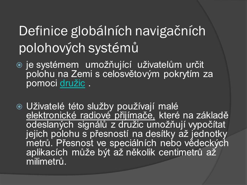 Definice globálních navigačních polohových systémů