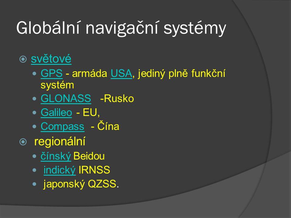 Globální navigační systémy