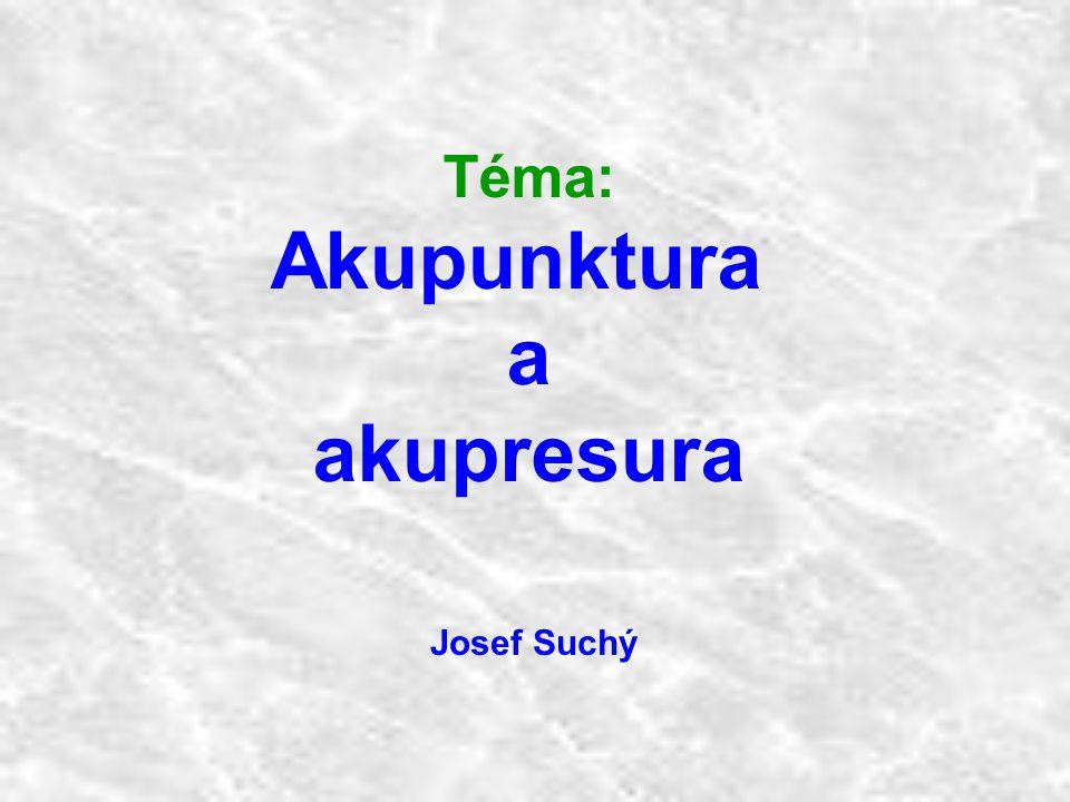 Akupunktura a akupresura