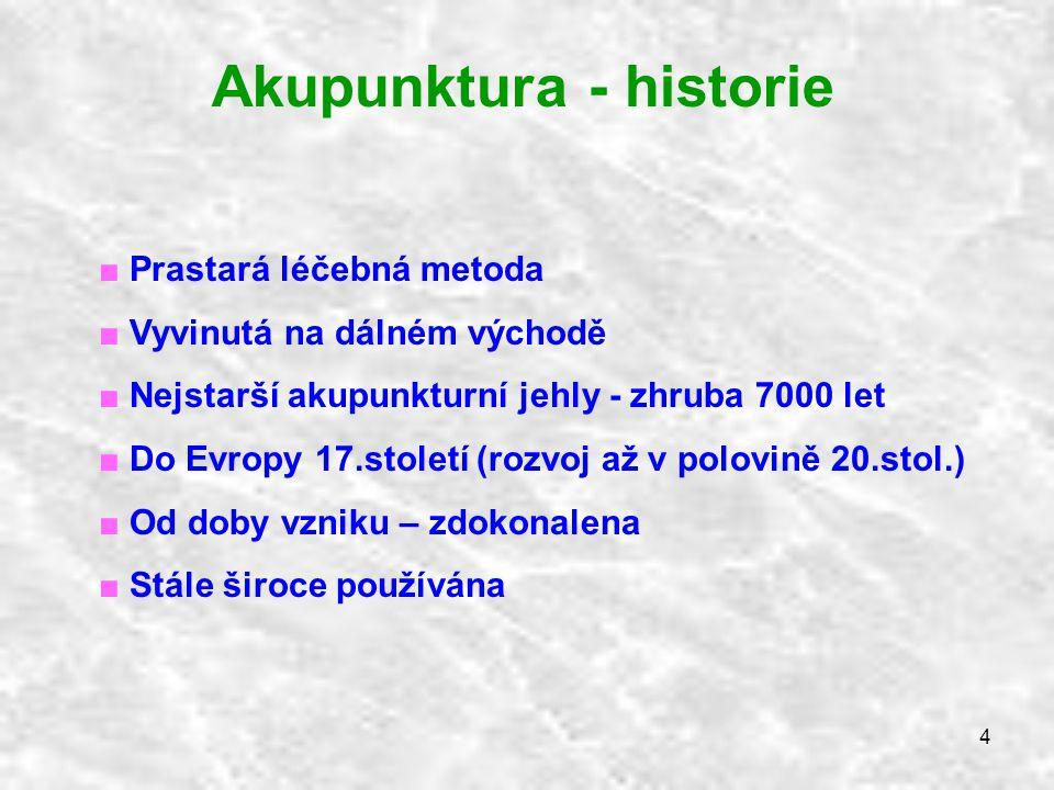 Akupunktura - historie