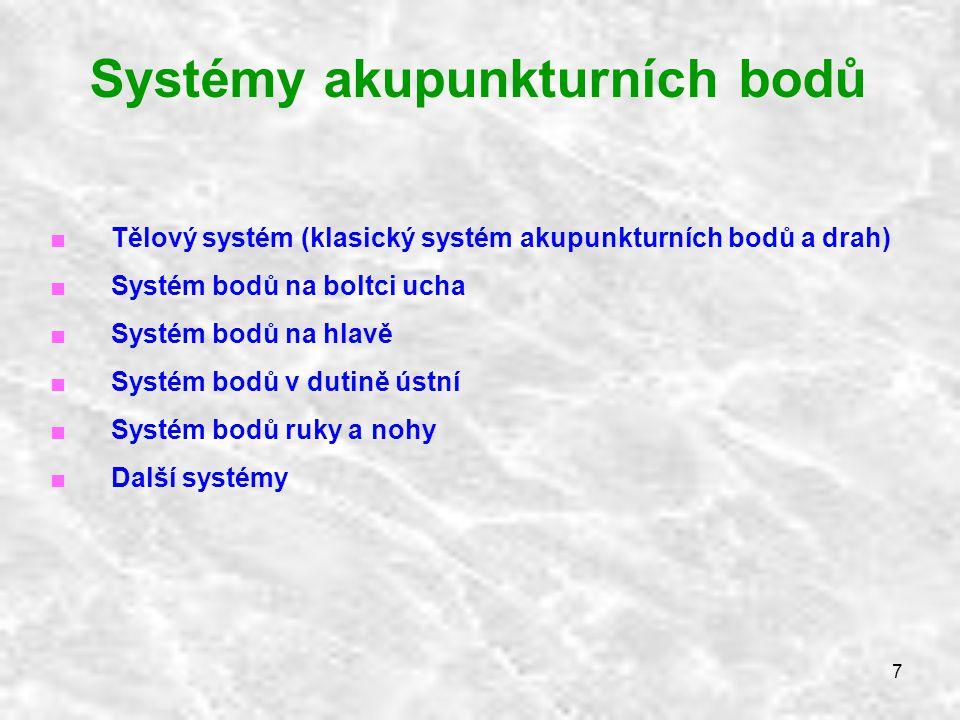 Systémy akupunkturních bodů