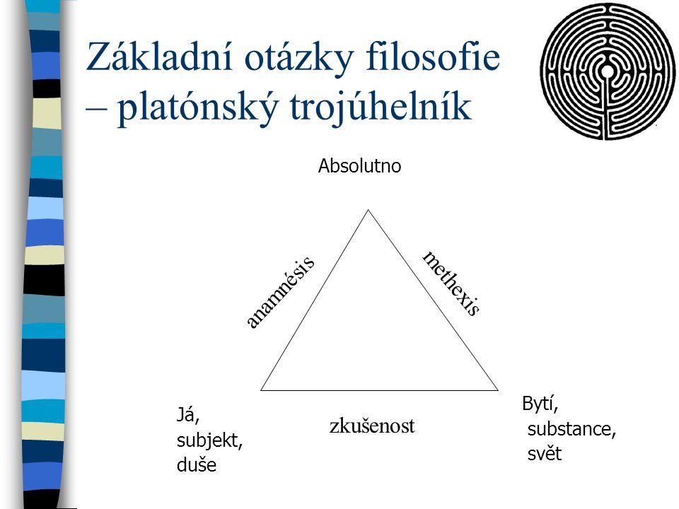 Základní otázky filosofie – platónský trojúhelník