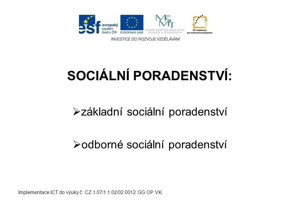 SOCIÁLNÍ PORADENSTVÍ: