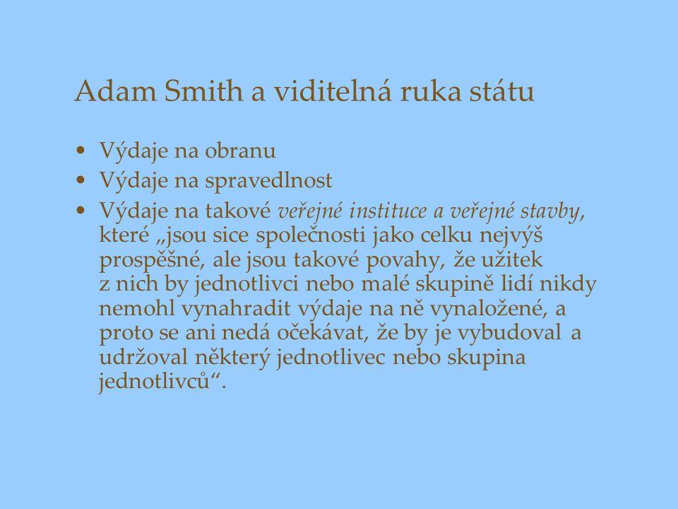 Adam Smith a viditelná ruka státu