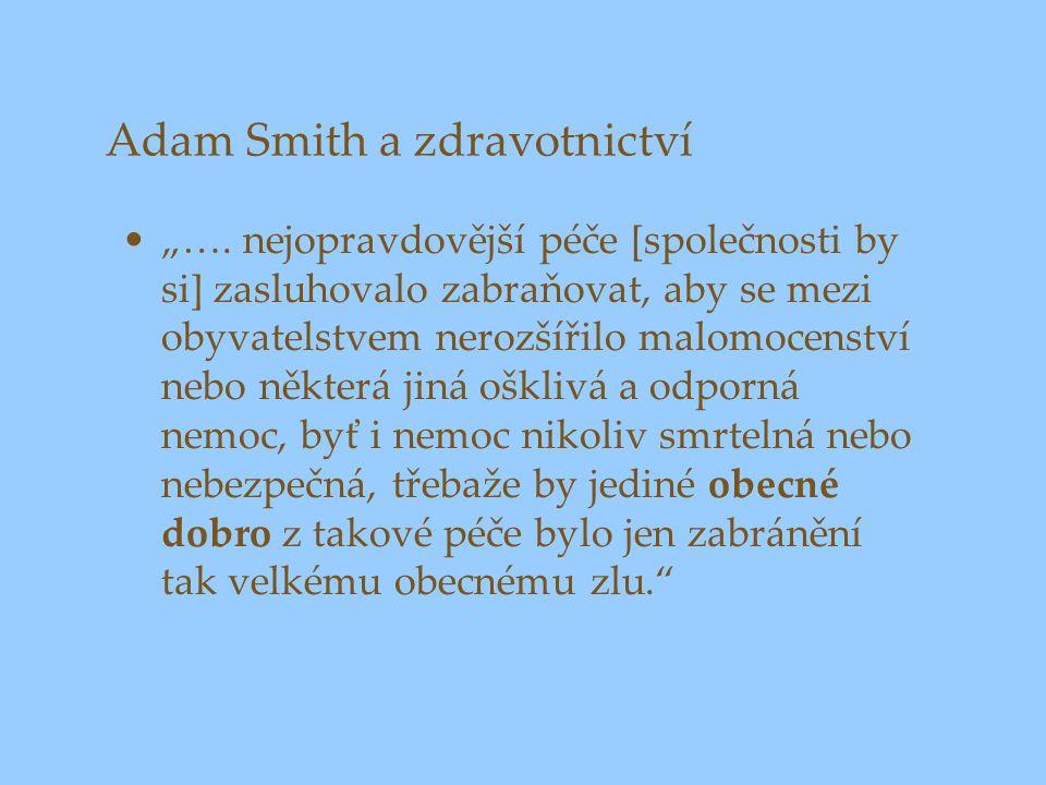 Adam Smith a zdravotnictví