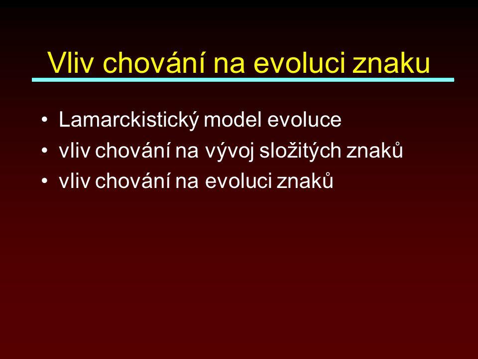 Vliv chování na evoluci znaku