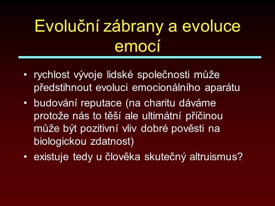 Evoluční zábrany a evoluce emocí