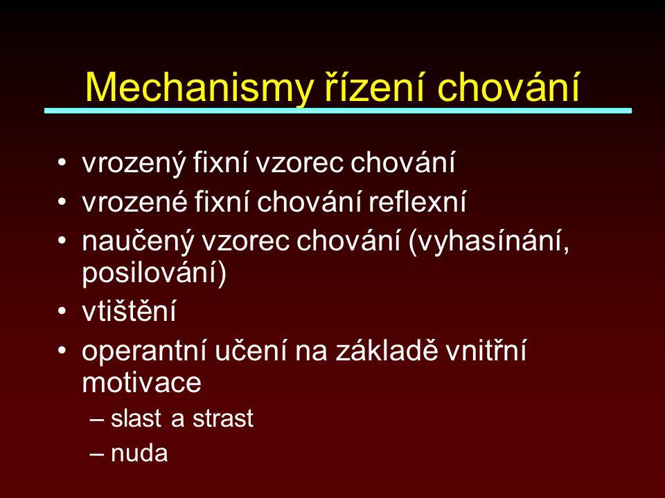 Mechanismy řízení chování