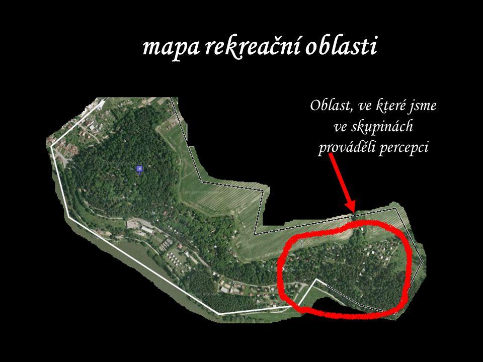 mapa rekreační oblasti