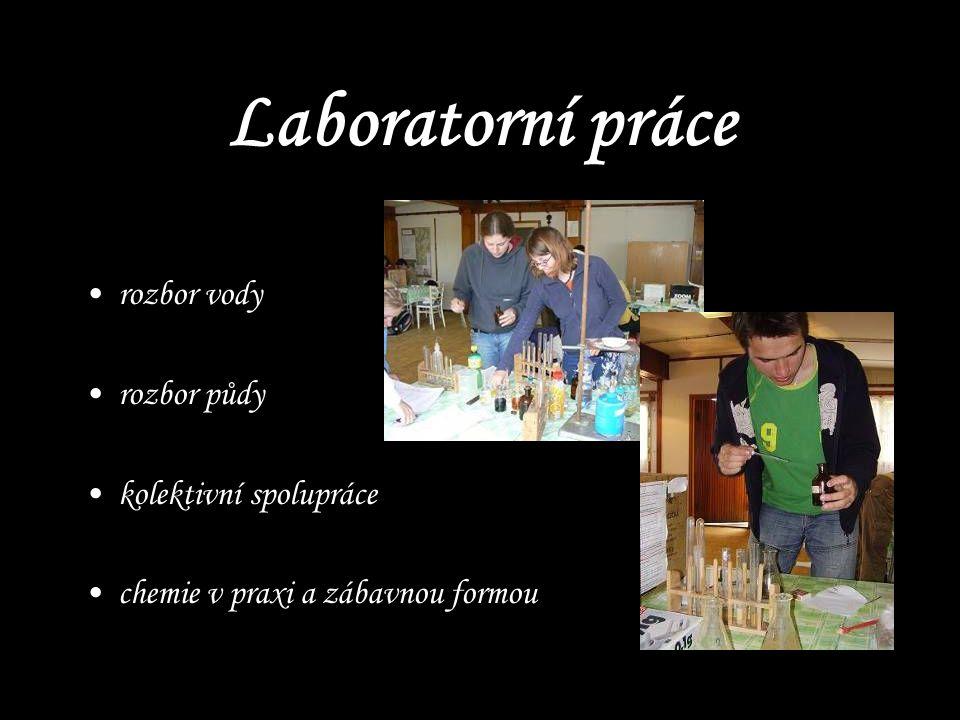 Laboratorní práce rozbor vody rozbor půdy kolektivní spolupráce