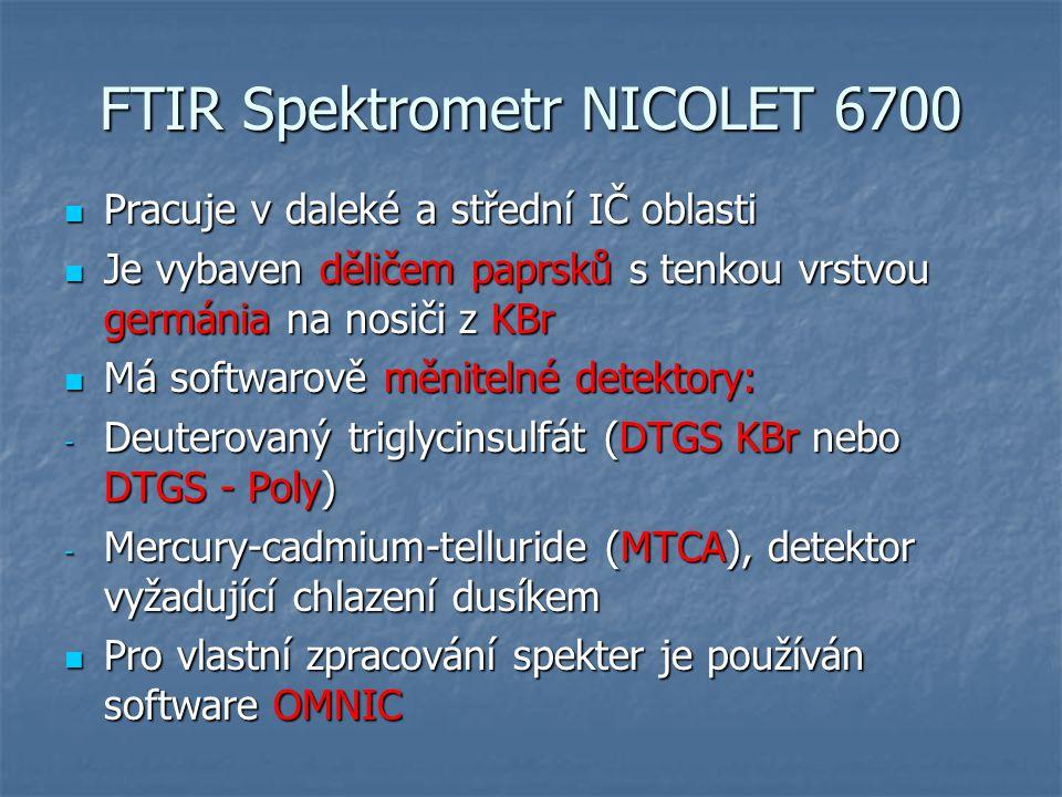 FTIR Spektrometr NICOLET 6700