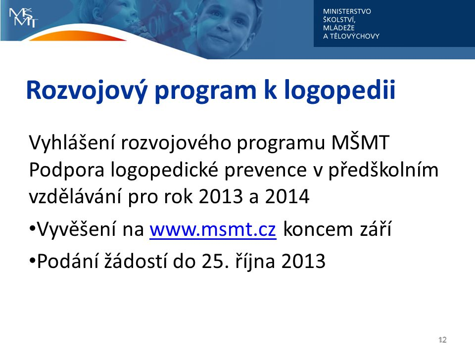 Rozvojový program k logopedii