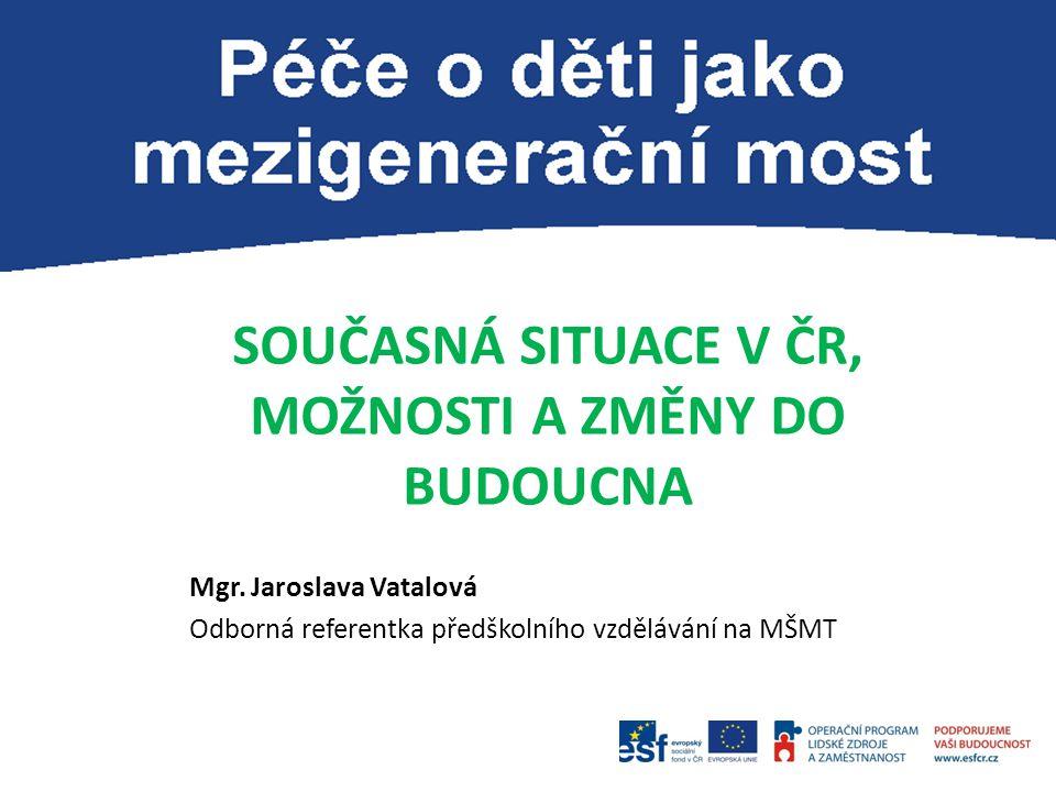 SOUČASNÁ SITUACE V ČR, MOŽNOSTI A ZMĚNY DO BUDOUCNA
