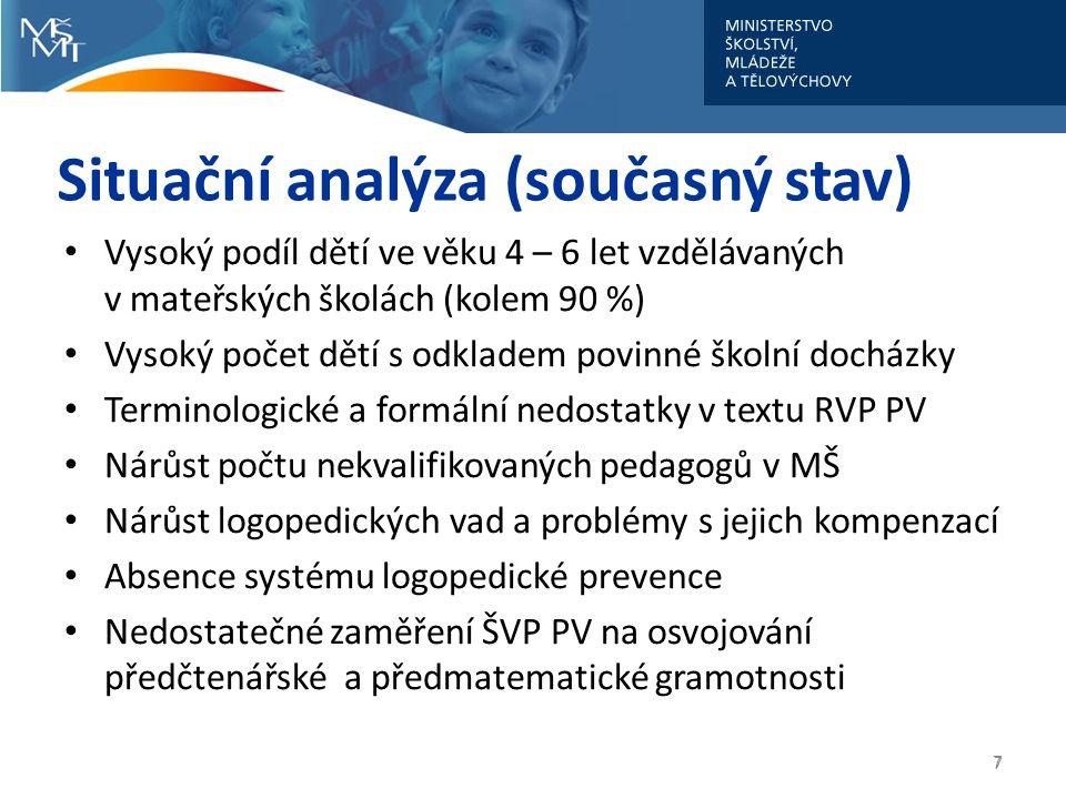 Situační analýza (současný stav)