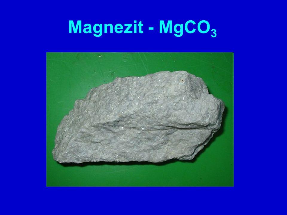 Magnezit - MgCO3