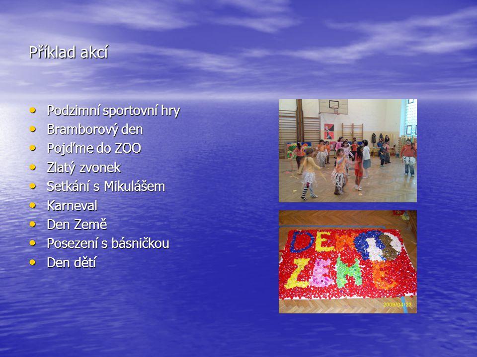 Příklad akcí Podzimní sportovní hry Bramborový den Pojďme do ZOO