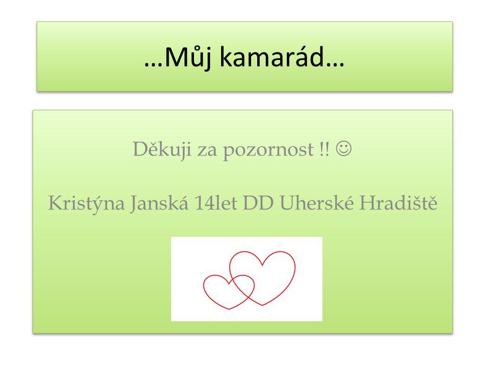Děkuji za pozornost !!  Kristýna Janská 14let DD Uherské Hradiště