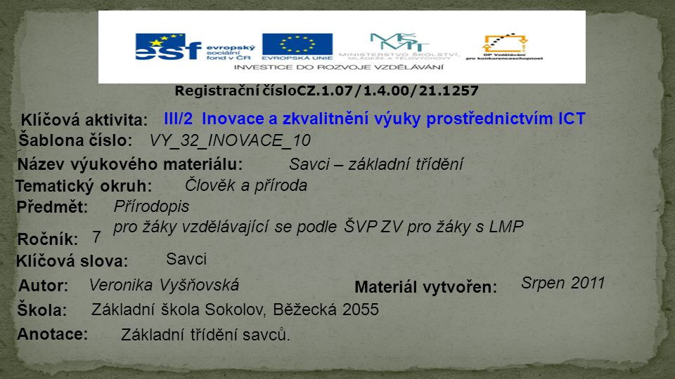 Registrační čísloCZ.1.07/1.4.00/21.1257