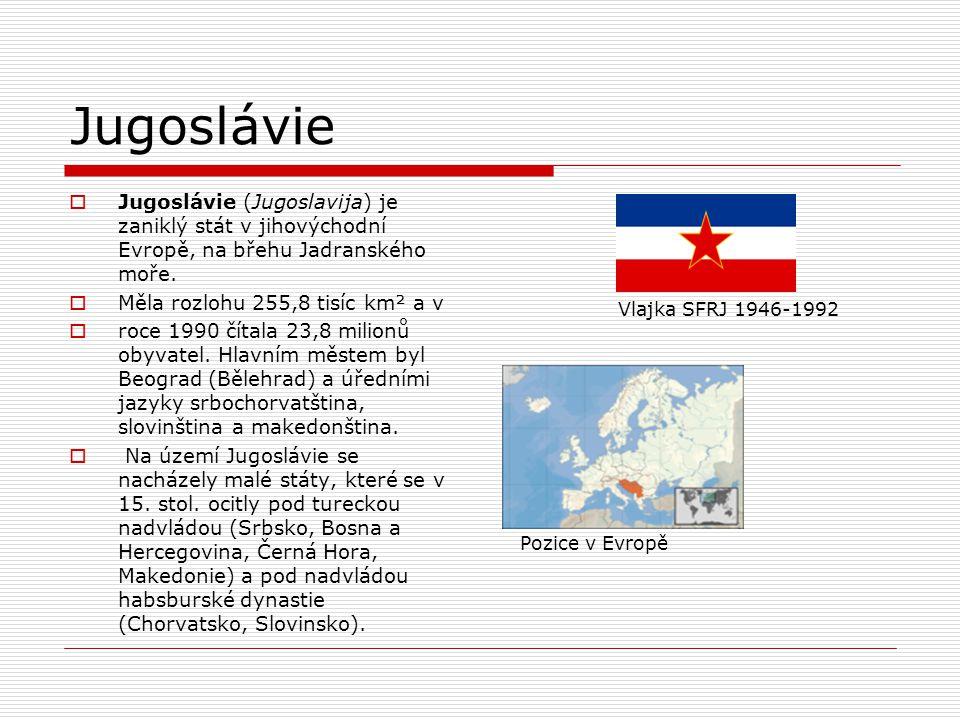 od r. 1963 Socialistická federativní republika Jugoslávie