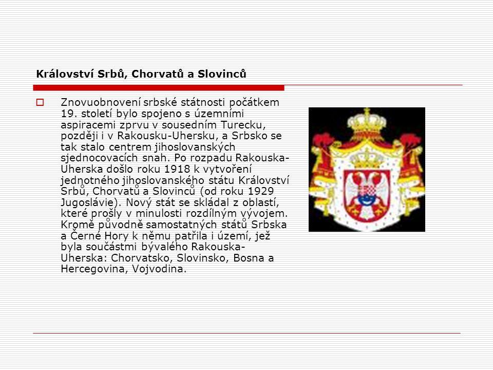 Království Srbů, Chorvatů a Slovinců