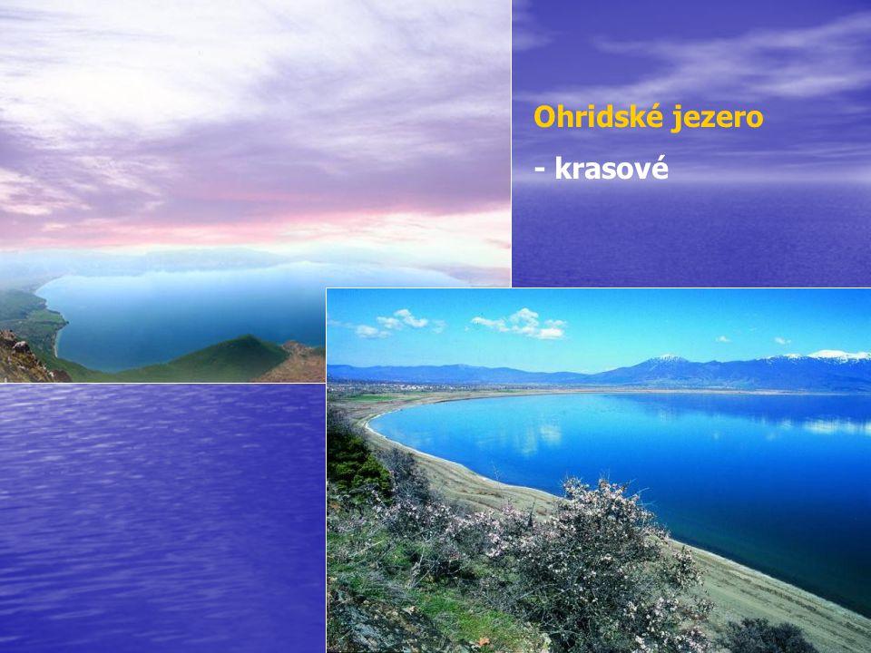 Ohridské jezero - krasové