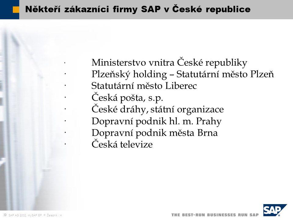 Někteří zákazníci firmy SAP v České republice