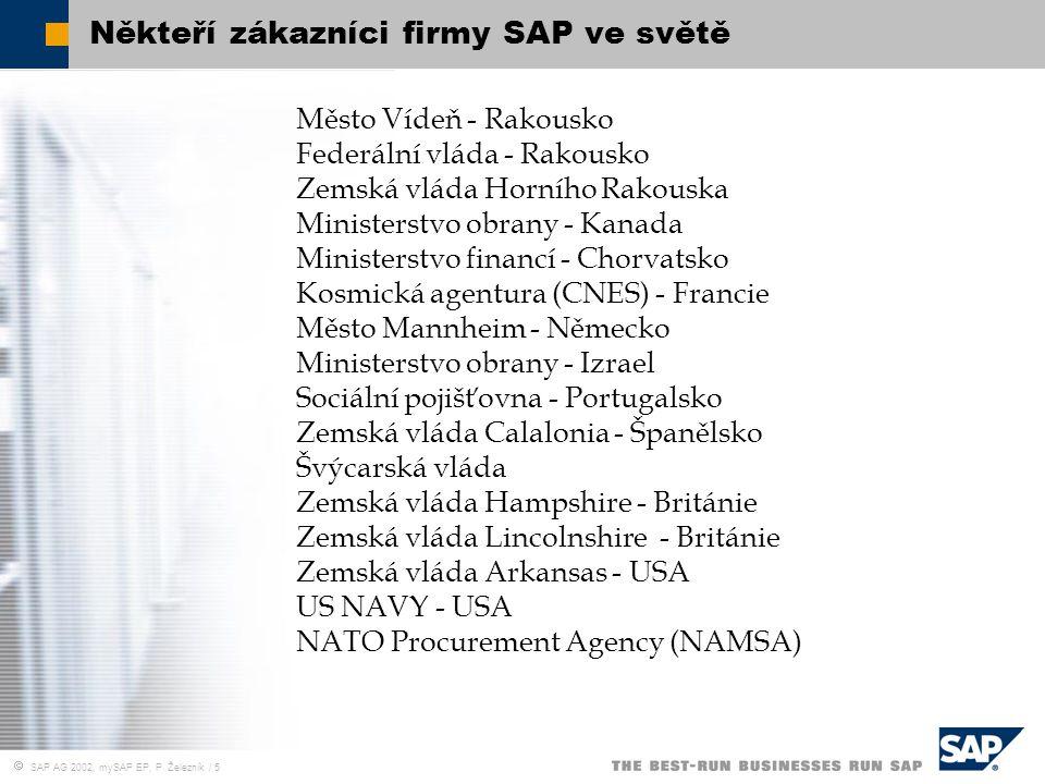 Někteří zákazníci firmy SAP ve světě