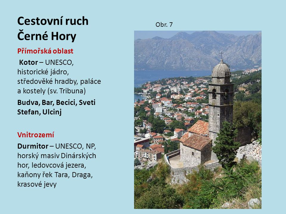 Cestovní ruch Černé Hory