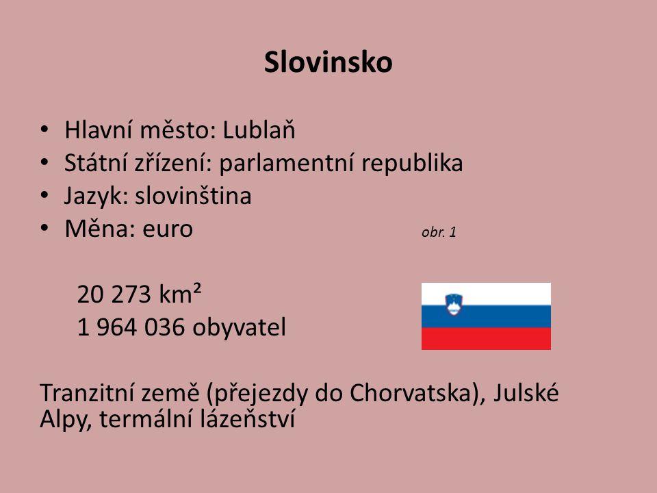 Slovinsko Hlavní město: Lublaň Státní zřízení: parlamentní republika