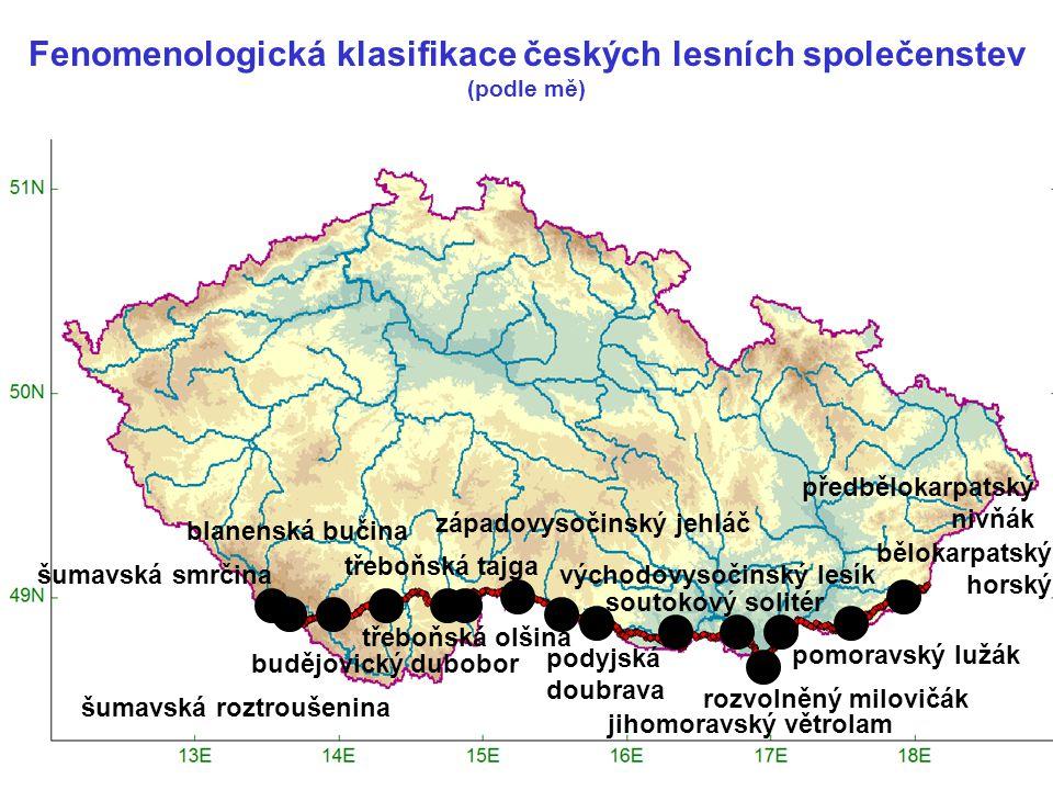 Fenomenologická klasifikace českých lesních společenstev (podle mě)