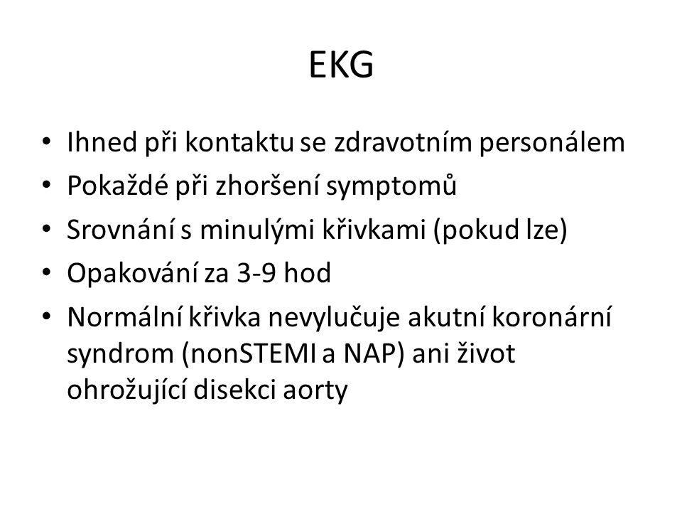 EKG Ihned při kontaktu se zdravotním personálem
