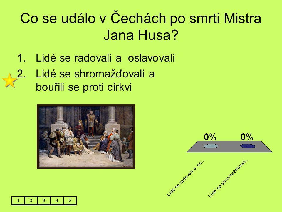 Co se událo v Čechách po smrti Mistra Jana Husa