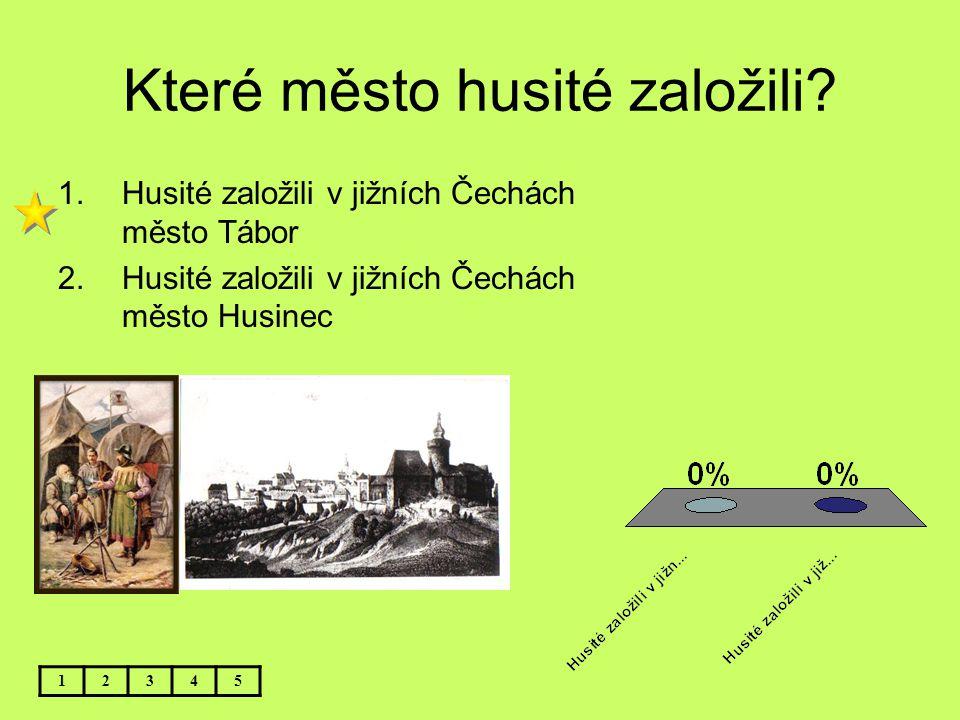 Které město husité založili