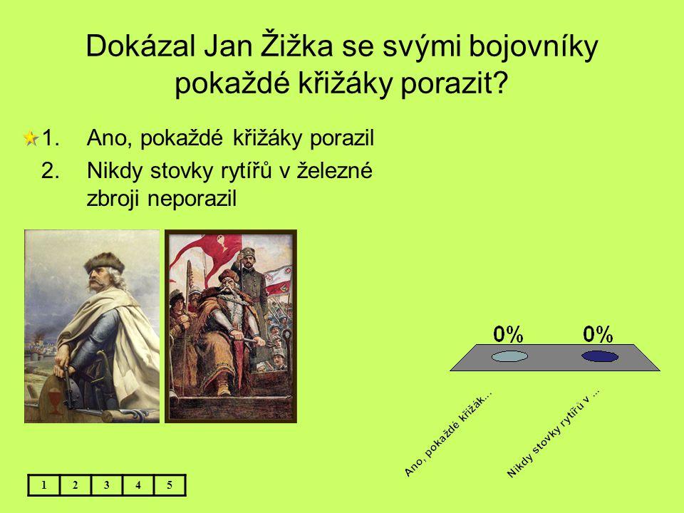 Dokázal Jan Žižka se svými bojovníky pokaždé křižáky porazit