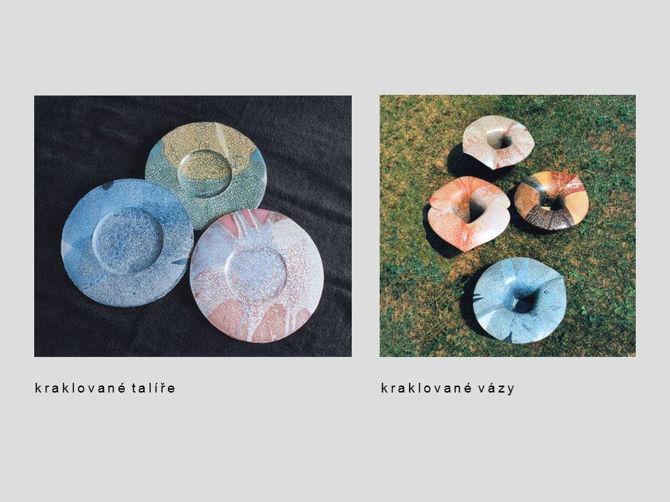 kraklované talíře kraklované vázy