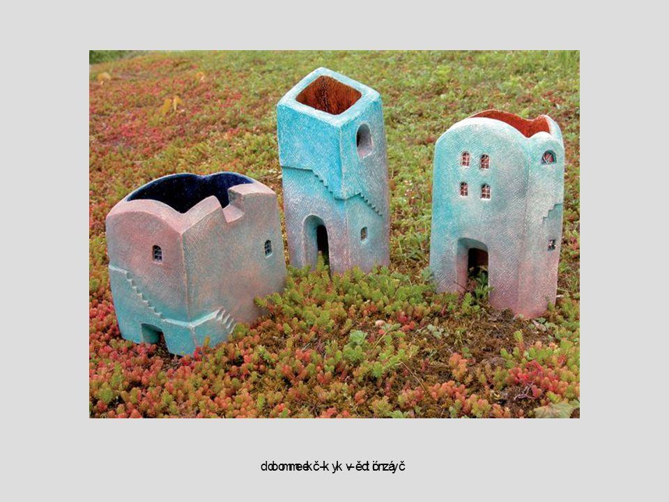 domečky – dózy domek – květináč