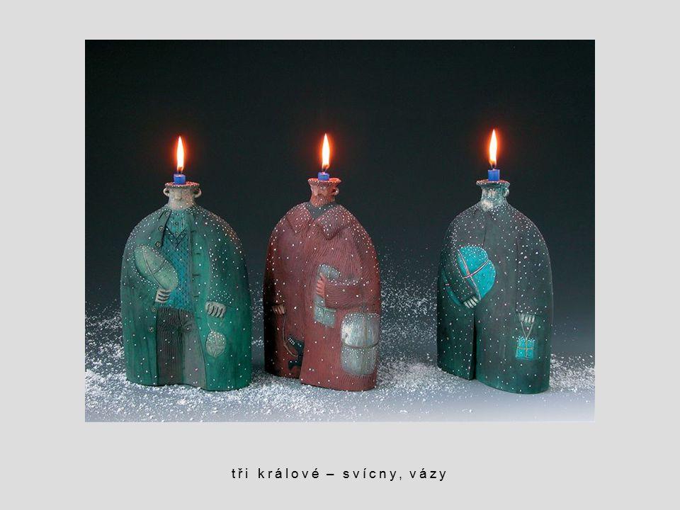tři králové – svícny, vázy