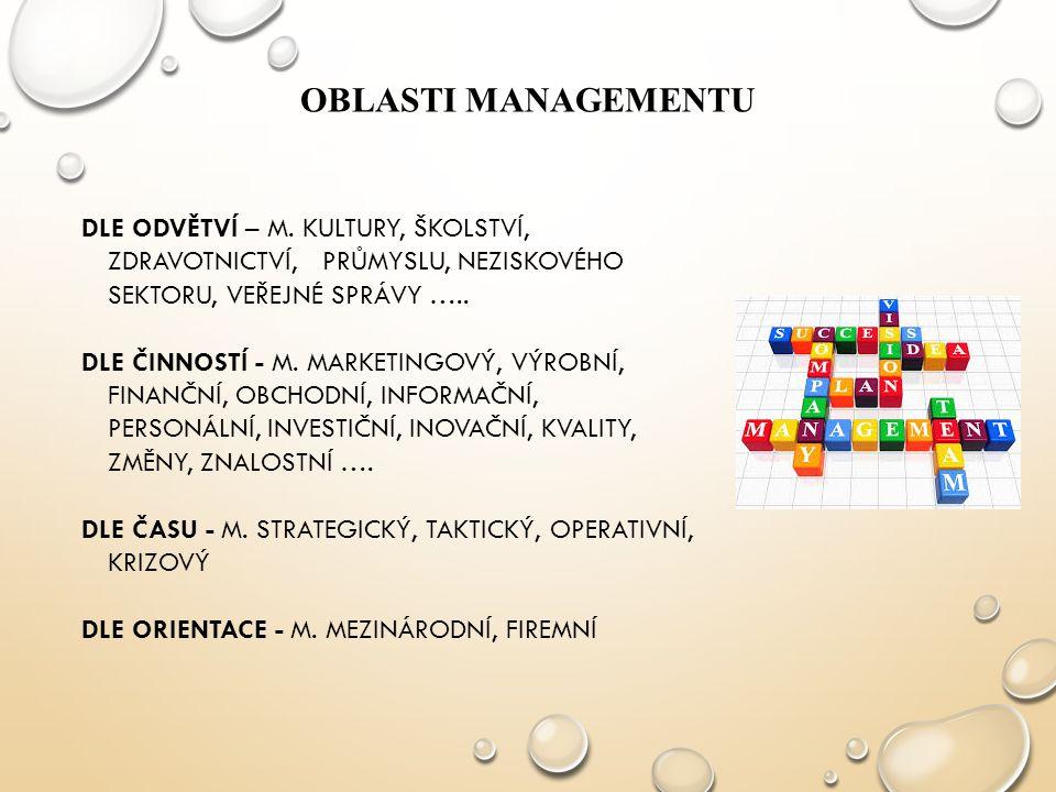 Oblasti managementu