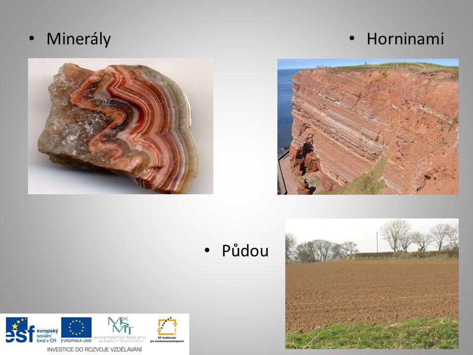 Minerály Půdou Horninami