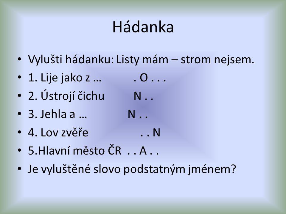 Hádanka Vylušti hádanku: Listy mám – strom nejsem.