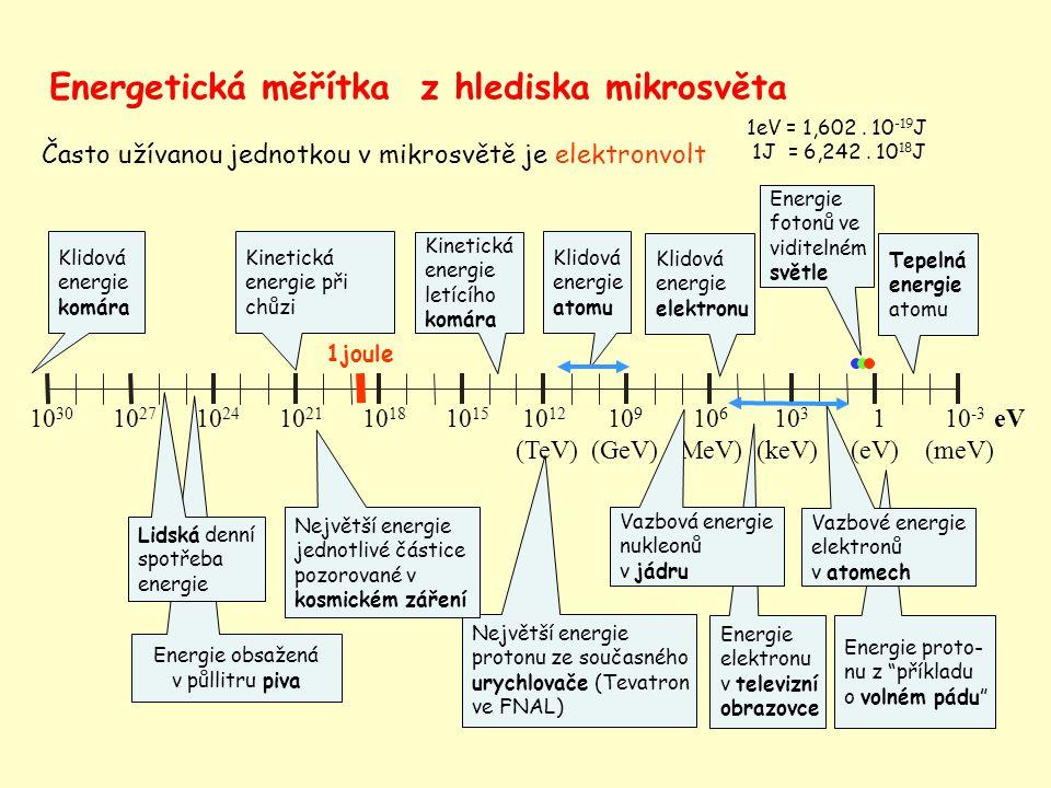 Energetická měřítka z hlediska mikrosvěta