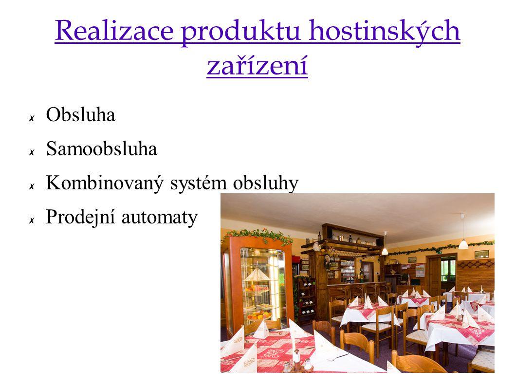 Realizace produktu hostinských zařízení