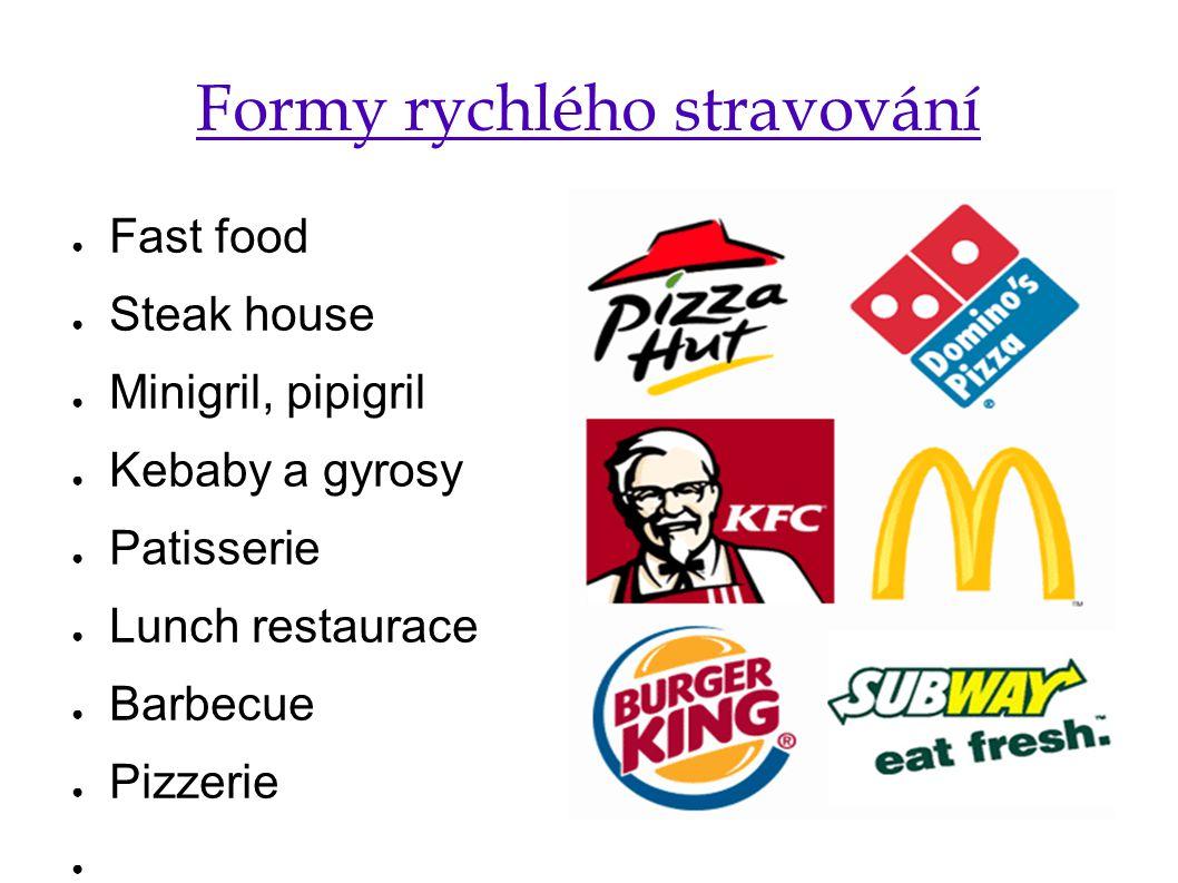 Formy rychlého stravování