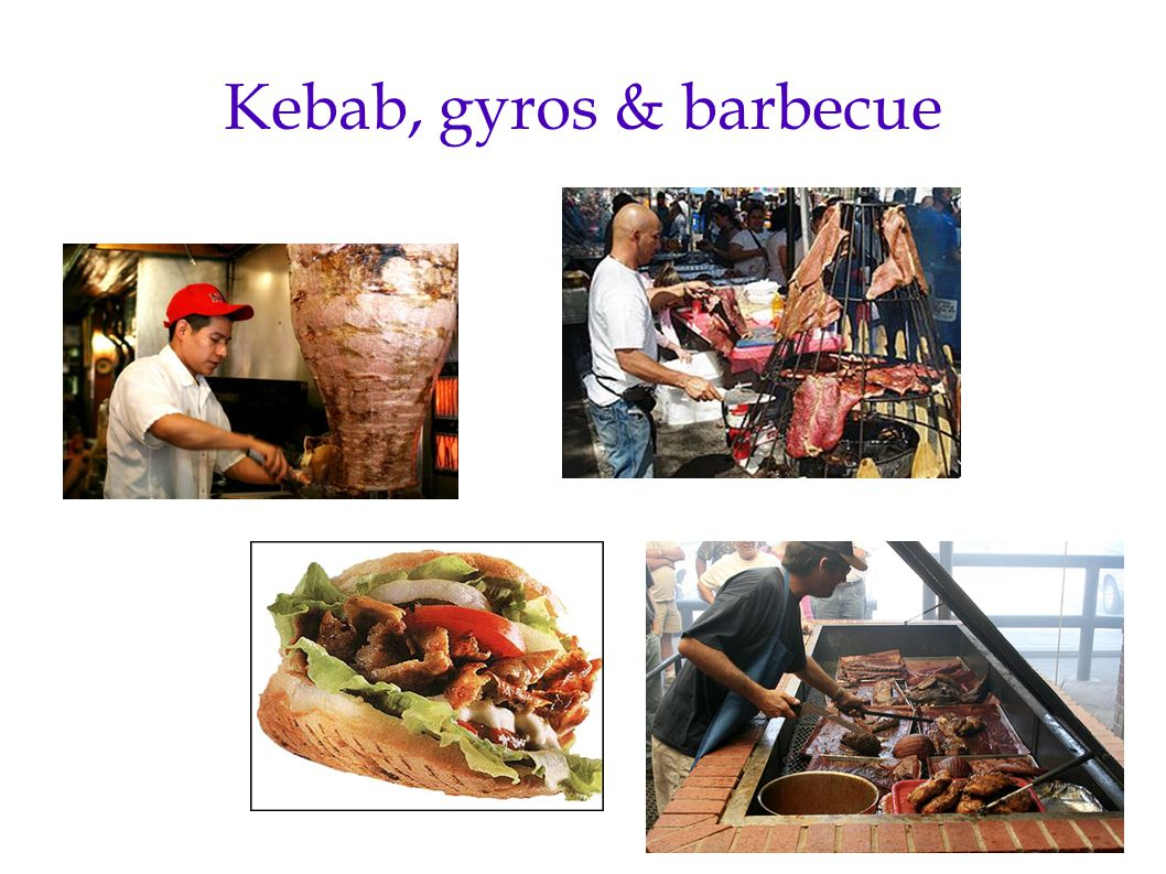 Kebab, gyros & barbecue